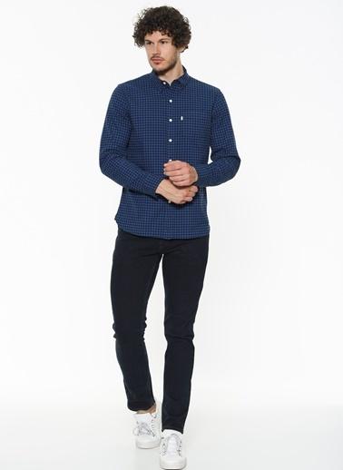 Levi's® Kareli Uzun Kollu Gömlek İndigo